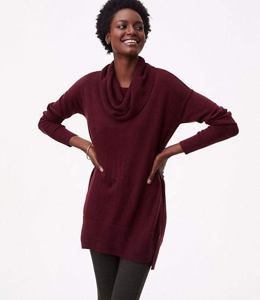LOFT Cowlneck Tunic Sweater