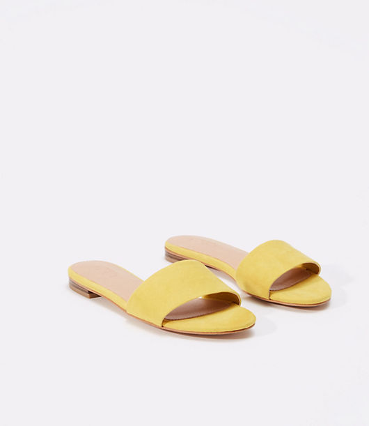 Vintage Sandals | Wedges, Espadrilles – 30s, 40s, 50s, 60s, 70s LOFT Modern Slide Sandals $39.88 AT vintagedancer.com