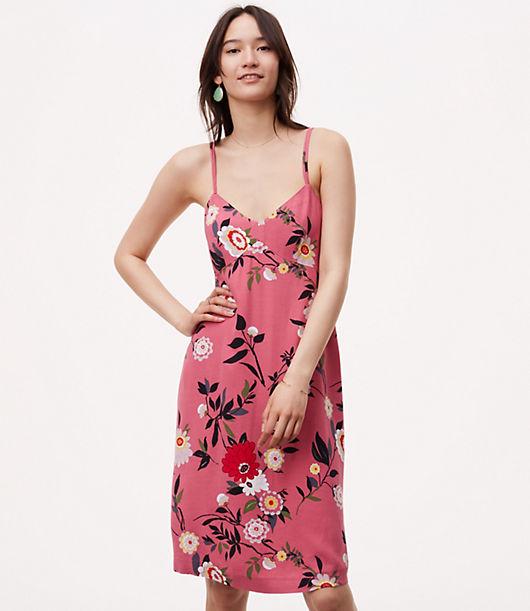LOFT Botanical Slip Dress