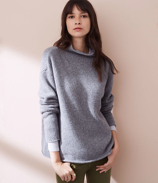 Lou & Grey Cashmere Funnelneck Sweater 23925434
