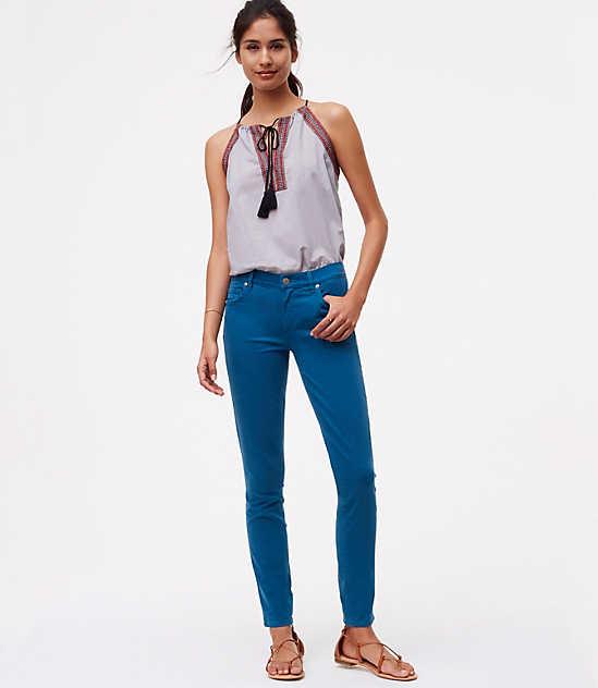 Loft Curvy Skinny Ankle Jeans