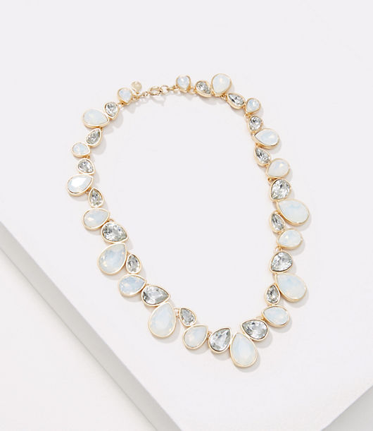 LOFT Iridescent Crystal Stone Necklace