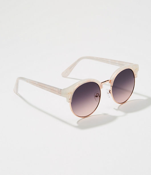 LOFT Iridescent Retro Sunglasses