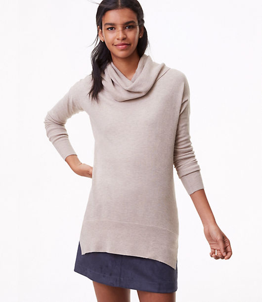 LOFT Petite Cowlneck Tunic Sweater
