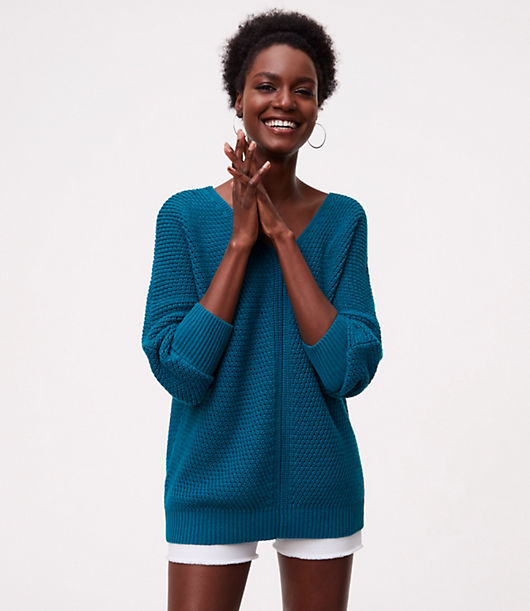 LOFT Textured Dolman Sweater