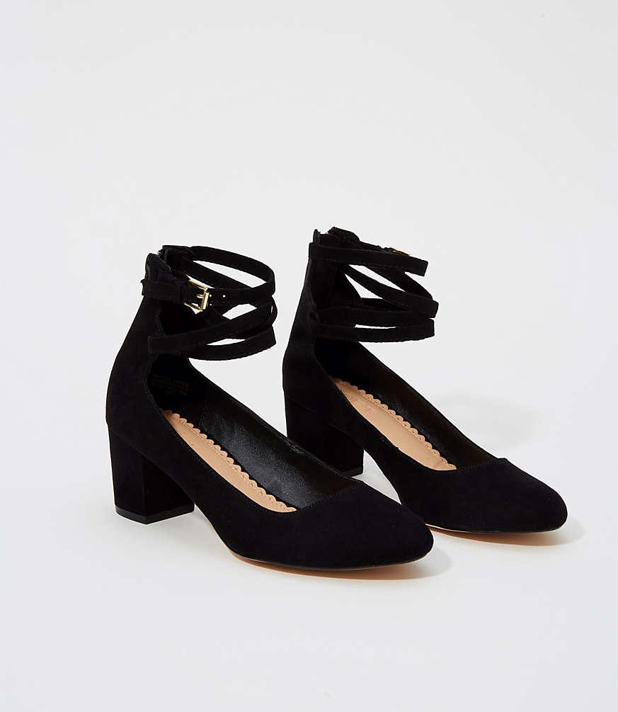 Ankle Strap Block Heels | LOFT