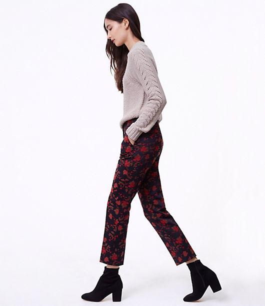 LOFT Slim Fall Floral Pants in Marisa Fit
