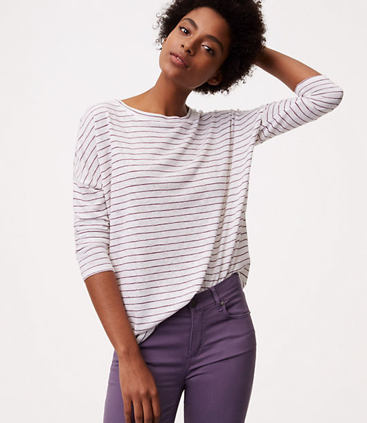 LOFT Striped Dolman Tee