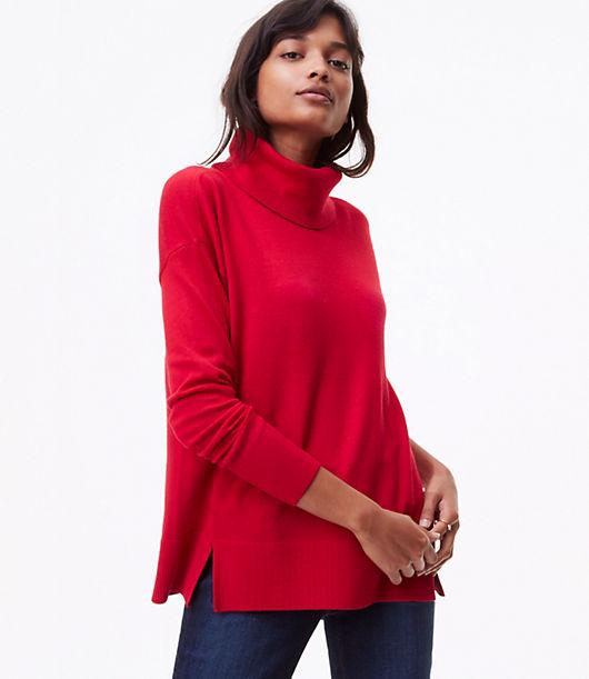 LOFT Relaxed Turtleneck Sweater