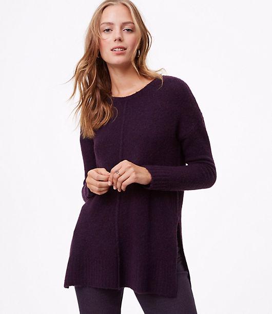 LOFT Seamed Tunic Sweater