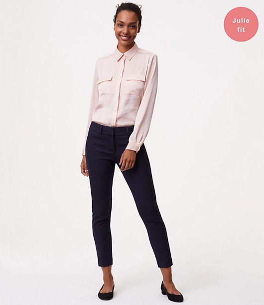 LOFT Petite Skinny Micro Plaid Ankle Pants in Julie Fit