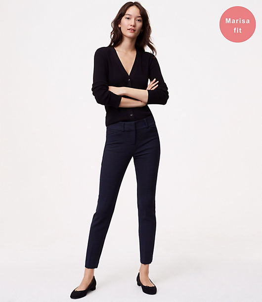 LOFT Skinny Micro Plaid Ankle Pants in Marisa Fit