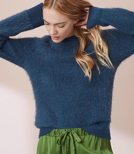 Lou & Grey Ribtrim Eyelash Sweater 24169691