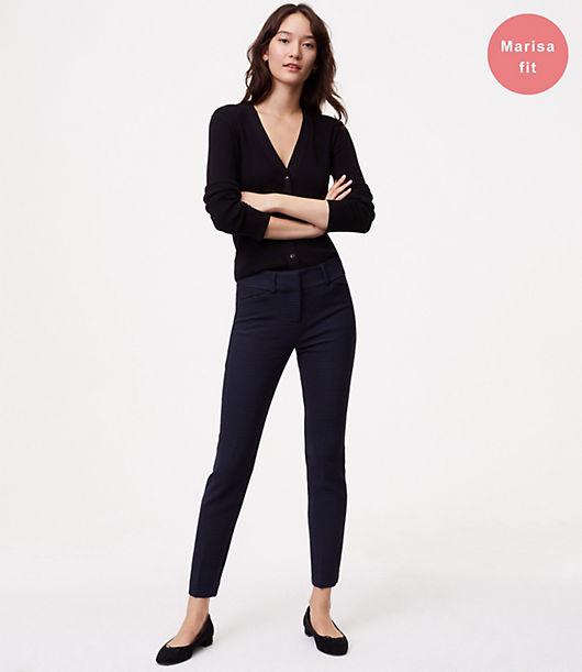 LOFT Petite Skinny Micro Plaid Ankle Pants in Marisa Fit