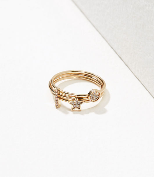 LOFT Starry Stackable Ring Set