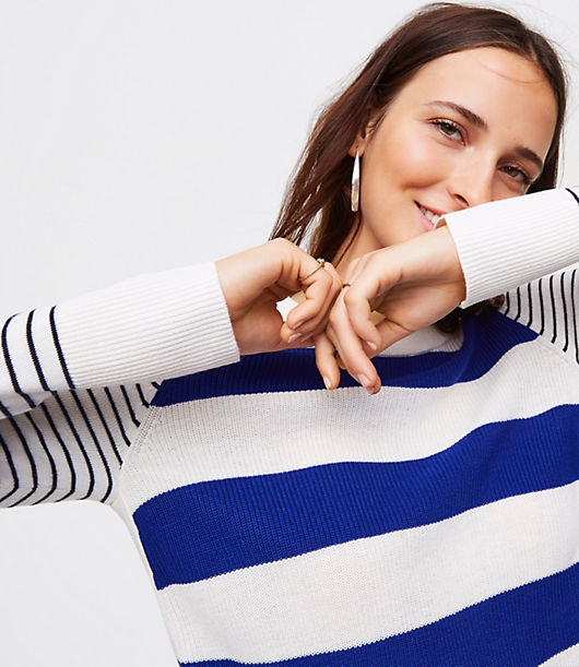 LOFT Mixed Stripe Sweater
