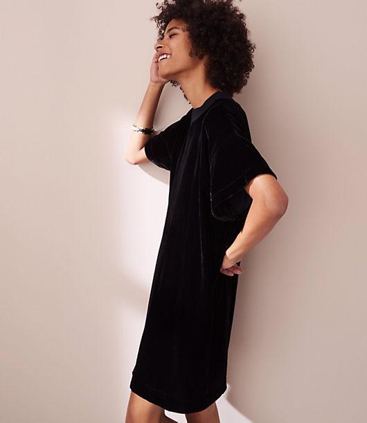 Lou & Grey Petite Velvet Tee Dress 23837171
