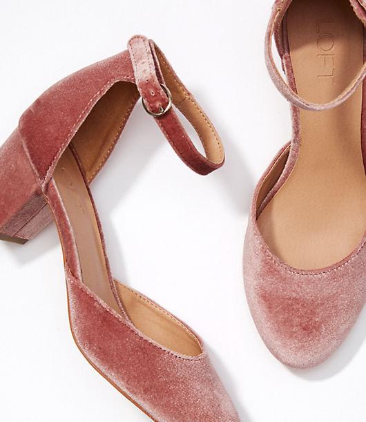 LOFT Velvet Block Heels