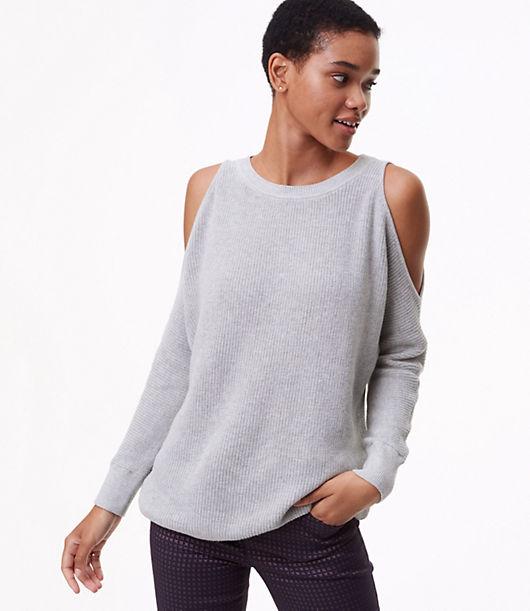 LOFT Dolman Cold Shoulder Sweater