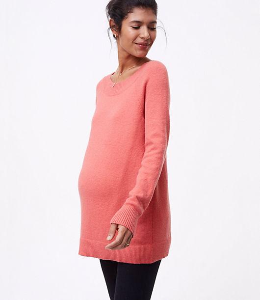 LOFT Maternity Boatneck Tunic Sweater