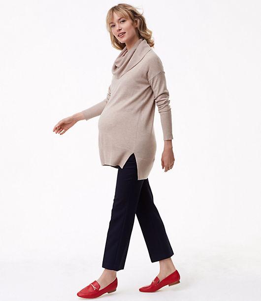 LOFT Maternity Cowlneck Tunic Sweater