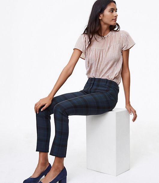 LOFT Petite Skinny Plaid Pants in Marisa Fit