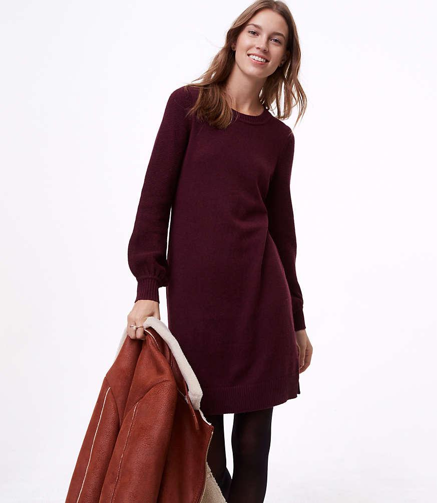 Petite Sweater Blouse Dress