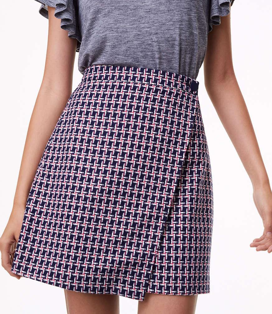 Petite Geo Jacquard Wrap Skirt