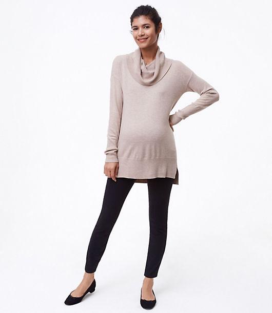 LOFT Maternity Performance Denim Leggings in Black 24116695