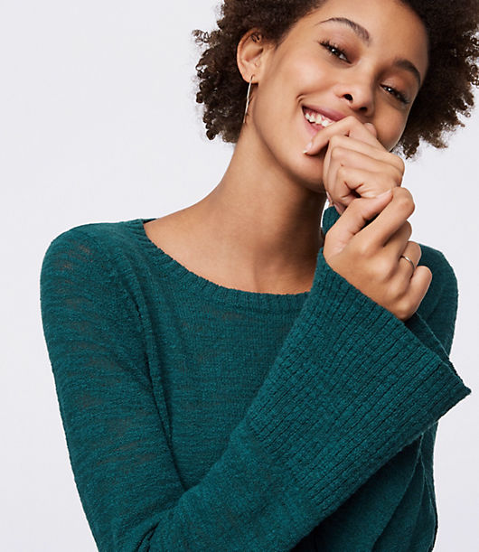 LOFT Flare Sleeve Sweater