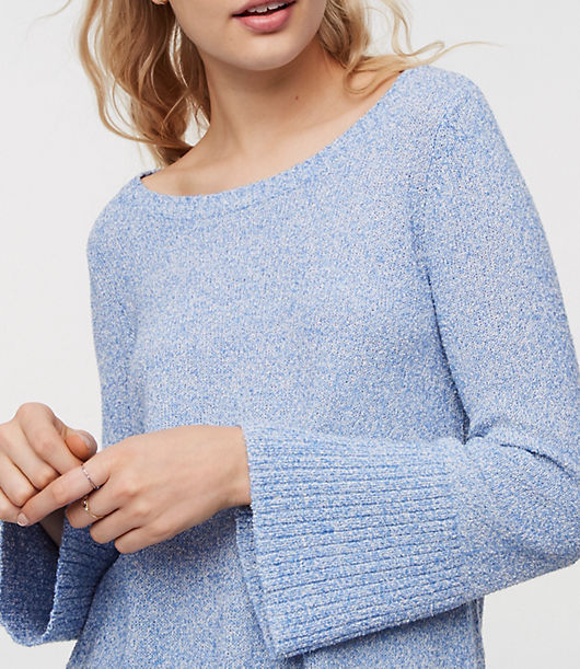 LOFT Marled Flare Sleeve Sweater