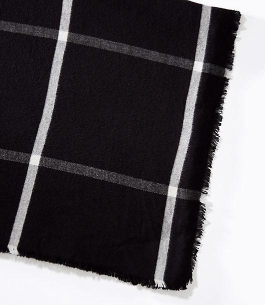 LOFT Plaid Blanket Scarf