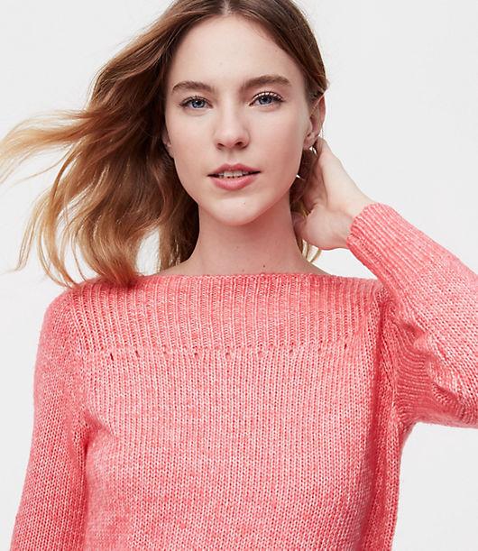 LOFT Ribbed Boatneck Sweater 24300728