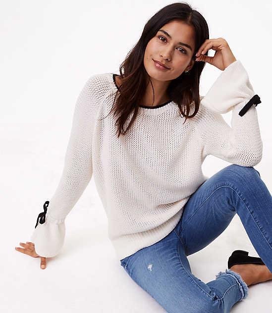 Loft Tie Cuff Sweater