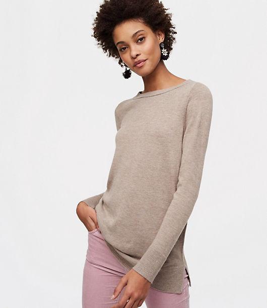 LOFT Petite Modern Tunic Sweater