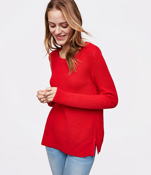 LOFT Mixed Rib Sweater 24415057