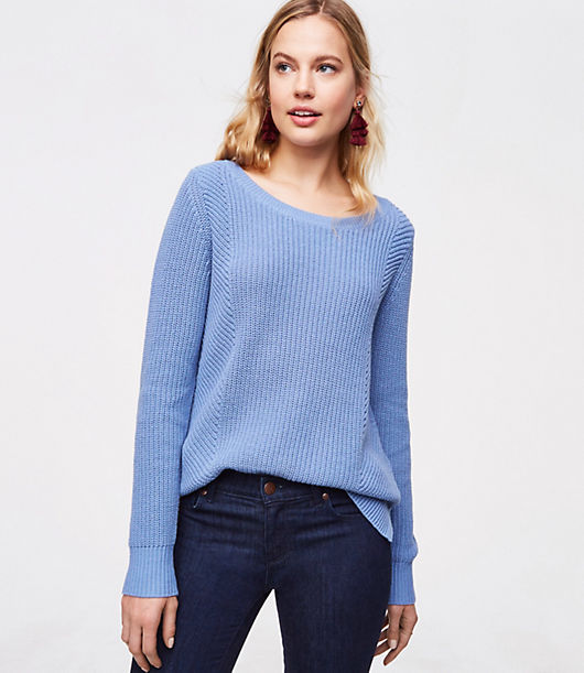 LOFT Mixed Rib Sweater 24415170