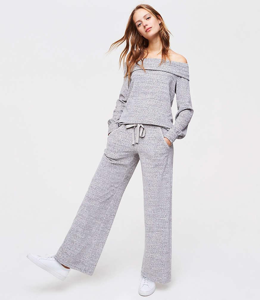 Petite Velour Drawstring Pants