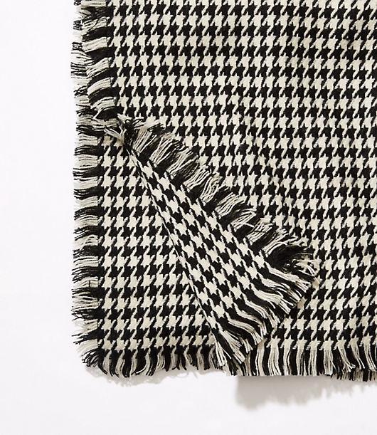 LOFT Houndstooth Blanket Scarf