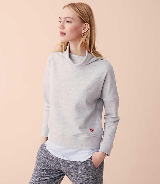 be5ca33f5de ...  69.50 Lou   Grey Hope Heart Patch Sweatshirt