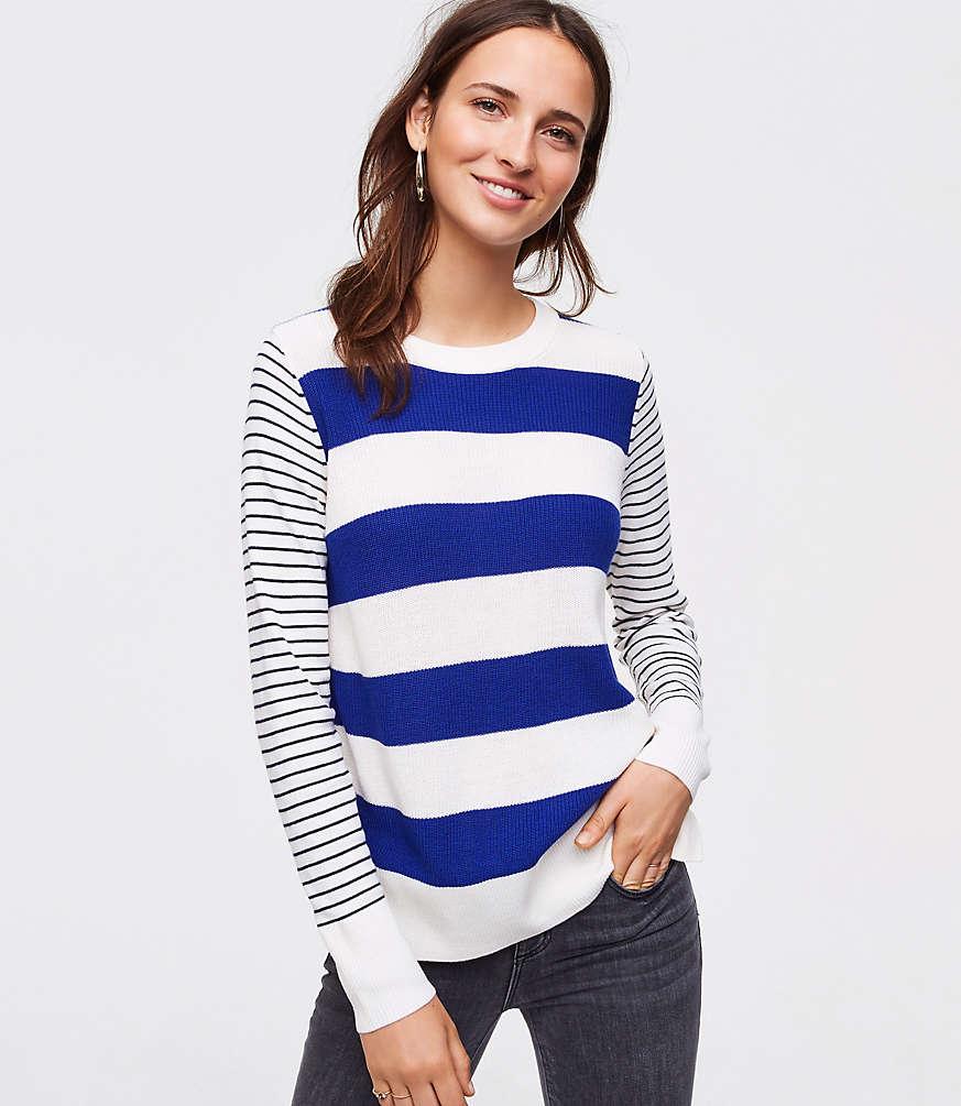 Petite Mixed Stripe Sweater
