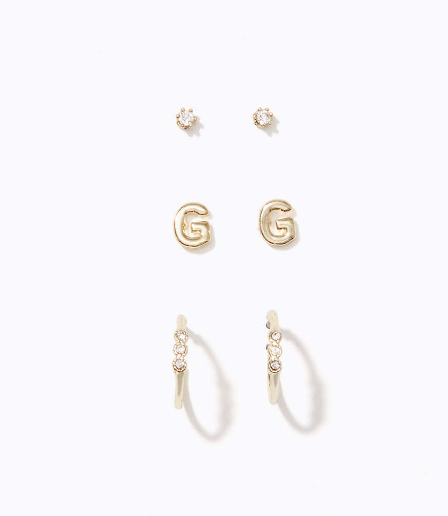 products stud initial earring initials