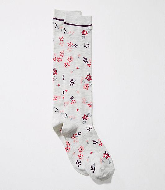 LOFT Falling Flowers Boot Socks