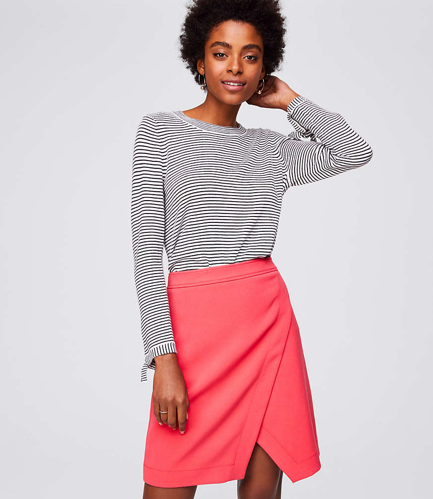 Petite Doubleface Wrap Skirt