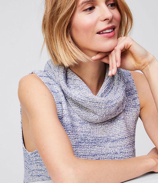 LOFT Cowl Sleeveless Tunic Sweater