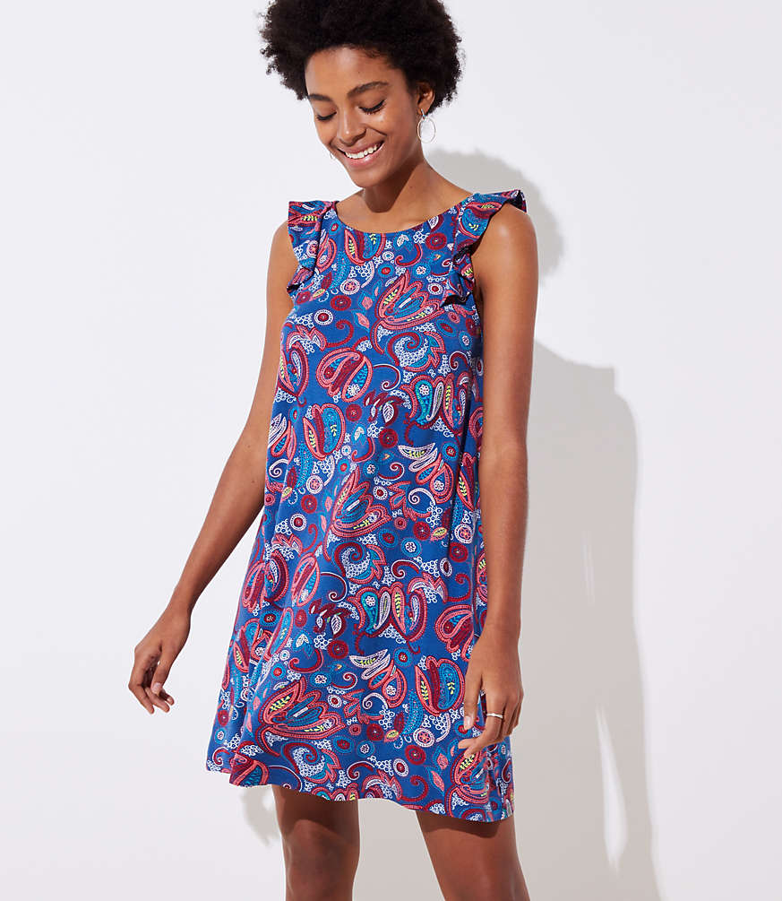 The Cutest Dress For Fourth Of July I Love Paisley Print Flutter Sleeves And Easy Shift Style This Pretty Sundress