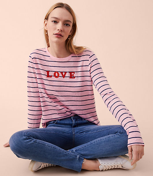 Lou & Grey Love Striped Linen Tee 24943680