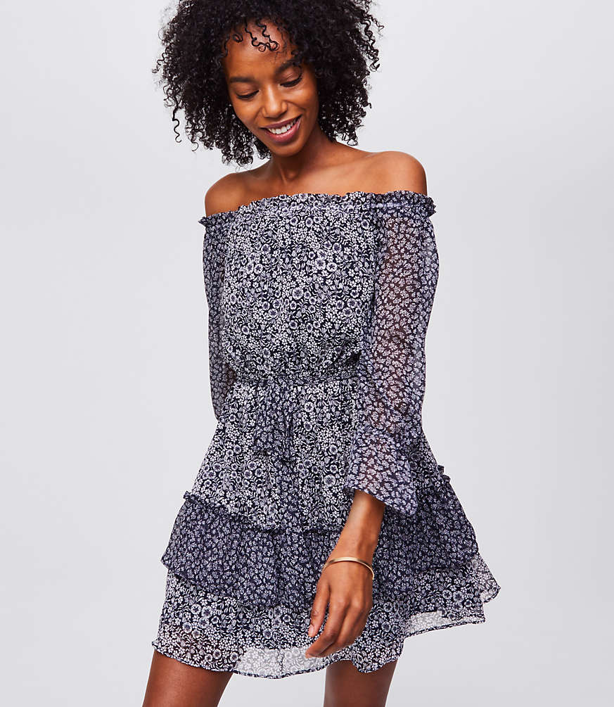 Blossomed Tassel Dress | LOFT