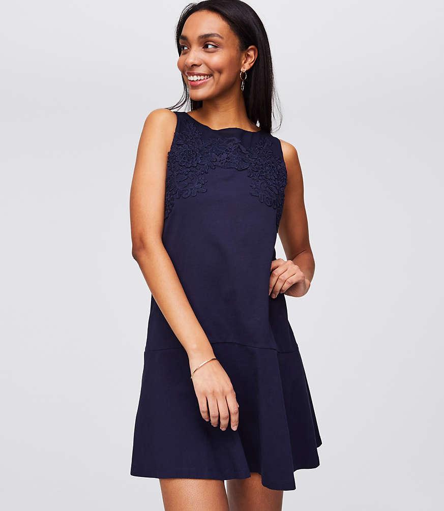 Petite Floral Lace Flippy Dress