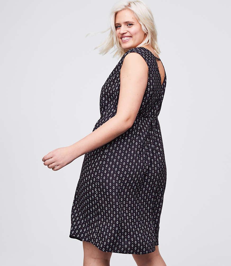 LOFT Plus Bandana Tie Waist Dress | LOFT